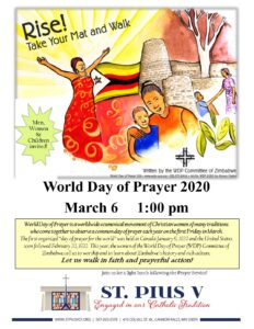WORLD DAY OF PRAYER 2020 – TAKE YOUR MAT AND WALK @ St Pius V Church